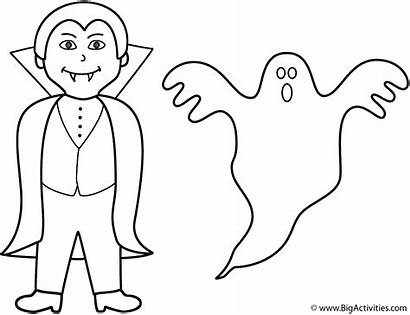 Ghost Coloring Halloween Pages Vampire Printable Ghosts