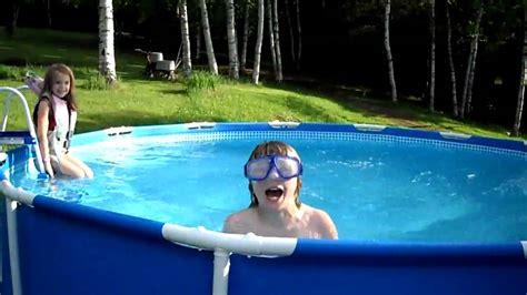Kids Swimming In New Pool Youtube
