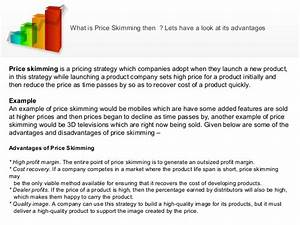 Pricing , penetration or skimming model of pricing