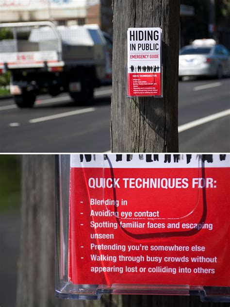 artist leaves funny signs  streets  people  find