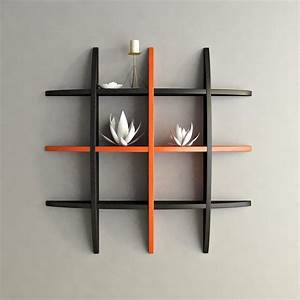 black orange decorative wooden wall shelf by artesia With decorative wooden letters for shelves