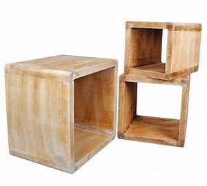 Table De Chevet Cube : table en bois massif salle manger ~ Teatrodelosmanantiales.com Idées de Décoration
