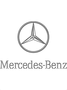 kolorowanka  logo mercedes benz kolorowanki dla dzieci