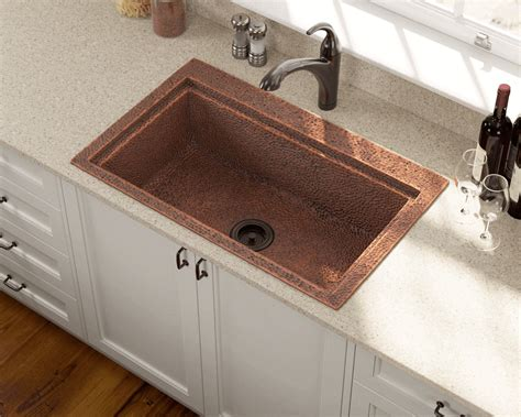 single bowl dual mount copper sink