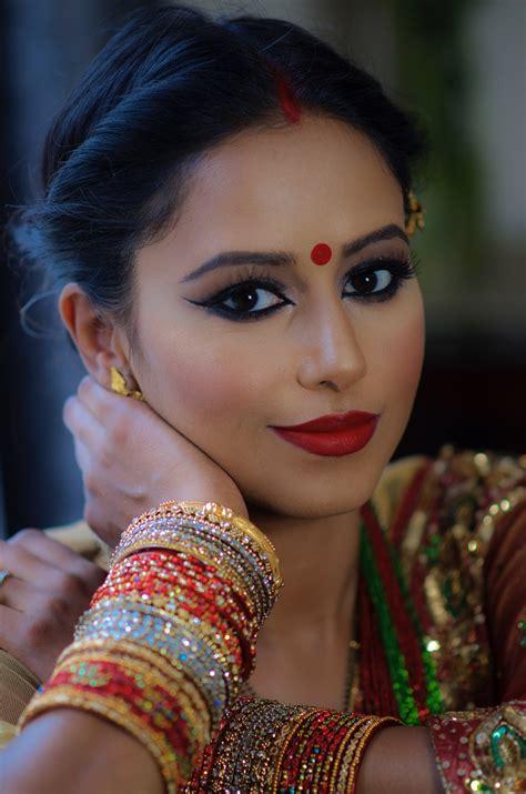 hindu festival teej makeup  indian bridal makeup