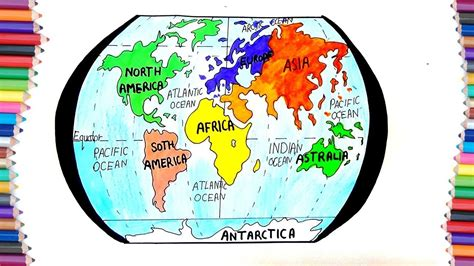 draw  continent  earth  kids youtube