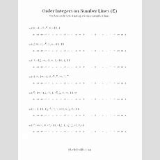 Free Math Worksheet  Ordering Integers On A Number Line (e)  Mrs Spurling  Middle School