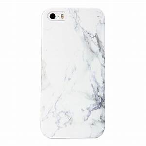 iPhone 5S Case - Cover Case Print Crystal - White Marble ...