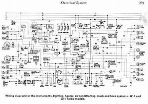 Daihatsu Charade G11 And G11 Turbo Electrical System Diagram