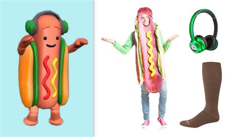 Heres Everything You Need To Diy A Hot Dog Snapchat Filter Halloween Costume Shefinds