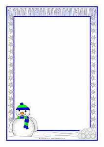 Word Page Border Templates Weather Themed A4 Page Borders Portrait Sb6477