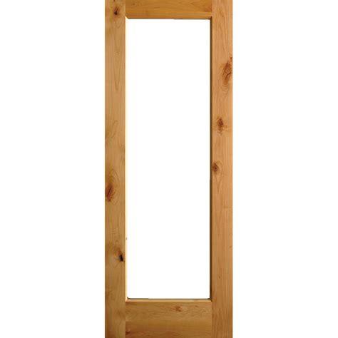30 x 80 exterior door with window krosswood doors 30 in x 80 in rustic alder lite