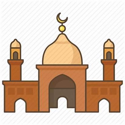 Mosque Temple Muslim Clipart Islam Cartoon Religion