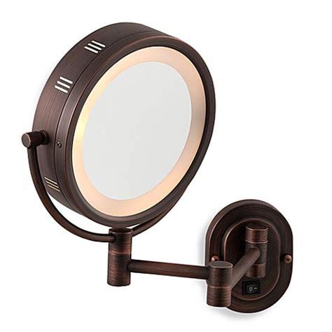 jerdon wall mount lighted mirror jerdon 5x 1x bronze lighted hardwired wall mount mirror