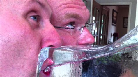 Ice Luge Drinking with my best friends - YouTube