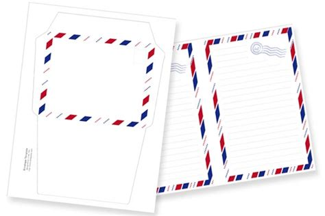 printable vintage airmail stationery set  pretty