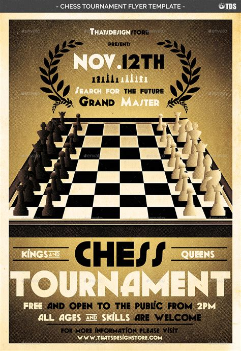 chess tournament flyer template  lou graphicriver