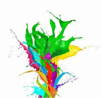Paint Splashes Abstract Background Edited Colored Kjn