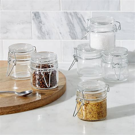 Mini Spice Jars by Mini Spice Jars With Cl Set Of Six Crate And Barrel