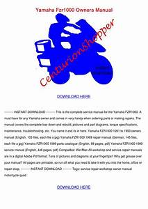 Yamaha Fzr1000 Owners Manual By Moniqueneeley