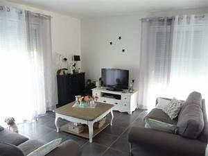 Salon Gris Blanc : salon gris blanc et noir 11 photos dede33 ~ Dallasstarsshop.com Idées de Décoration