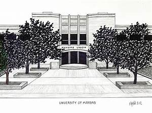 University Of Kansas Union Building Drawing by Frederic Kohli