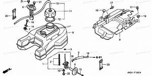 Honda Atv 2002 Oem Parts Diagram For Fuel Tank  Trx500fa
