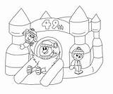 Castle Bouncy Colouring Carnival Coloring Bounce Drawing Winter Richmond Contest Pages Colour Hill Getdrawings Template sketch template