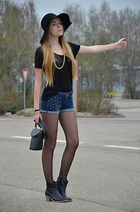 192 best Pantyhose and shorts images on Pinterest   Casual wear Feminine fashion and Panty hose