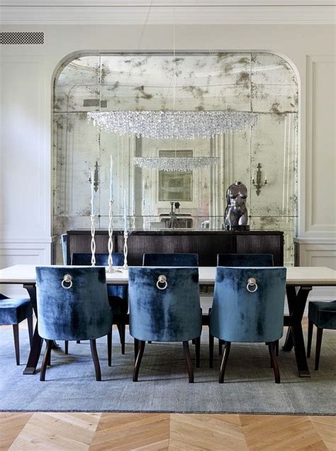 dining out in your new navy blue dining room