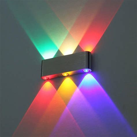 2019 modern 6w wall light multi color up sconce