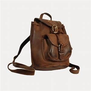 Sac À Dos Baroudeur : sac dos petit format en cuir pais brun esprit baroudeur boutique de mode vintage friperie ~ Mglfilm.com Idées de Décoration