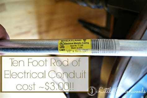 electrical conduit bay window curtain rod the secret to diy bay window curtain rods from 3