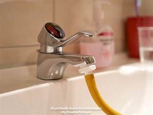 3d printable faucet to hose adapter by creativetools With bathroom sink hose adapter