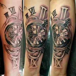 Tatouage Montre A Gousset Avant Bras : horloge rouages tattoo r alis par aur lien tattoo florian tatouage horloge tatouage et ~ Carolinahurricanesstore.com Idées de Décoration