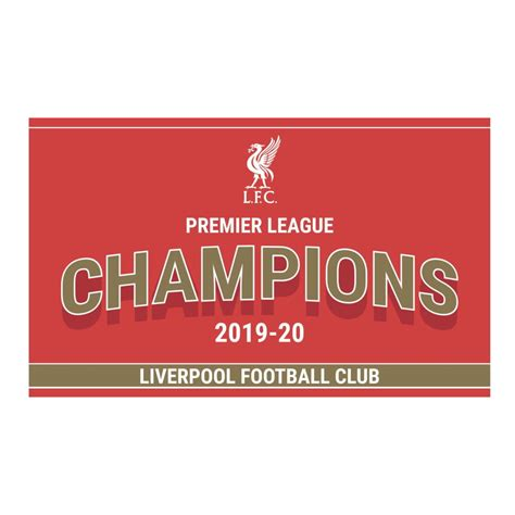 Buy Liverpool 2019-20 Premier League Champions Flag in ...