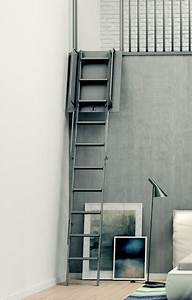 Echelle Escamotable Telescopique : escalier escamotable mezzanine ~ Edinachiropracticcenter.com Idées de Décoration