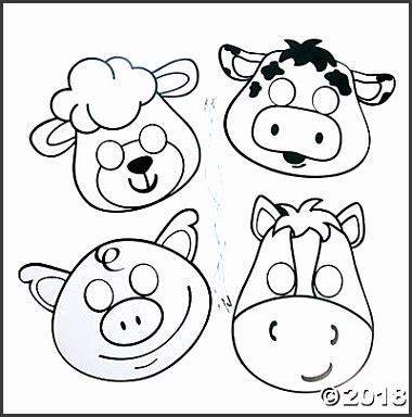 farm animal mask templates company sampletemplatess