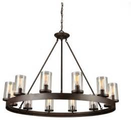 Drum Lights For Dining Room by Menlo Park 12 Light Oil Rubbed Bronze Chandelier
