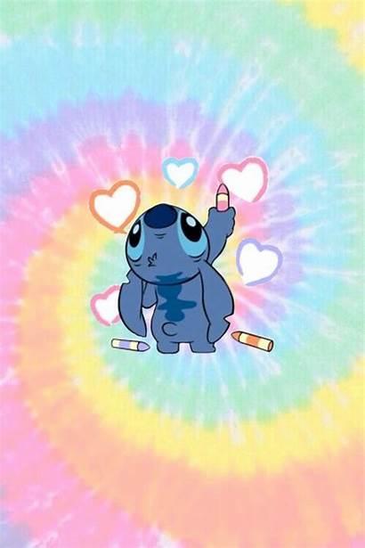 Stitch Wallpapers Dye Tie Cartoon Disney Sfondi