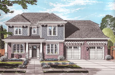 Expandable Two-story Craftsman House Plan