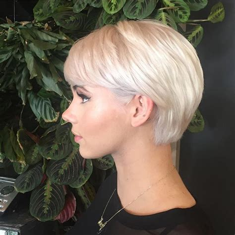 Growing Out Pixie Cut Hairstyles by Beautiful Platinum Growing Out Pixie Cut Shape