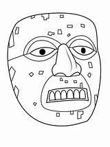 Template Aztec Mask Coloring Mayan Pages Xiuhtecuhtli Printable History Sun Mayans Supercoloring Crafts Stone Printables Incas Masks Gorilla Sheets Maya sketch template