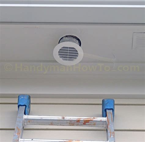 Kitchen Exhaust Fan Vent Outside Termination by How To Install A Soffit Vent And Ductwork For A Bathroom