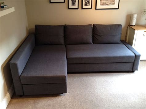 dark gray sofa bed soft fabric ikea friheten sofa bed in dark gray color with