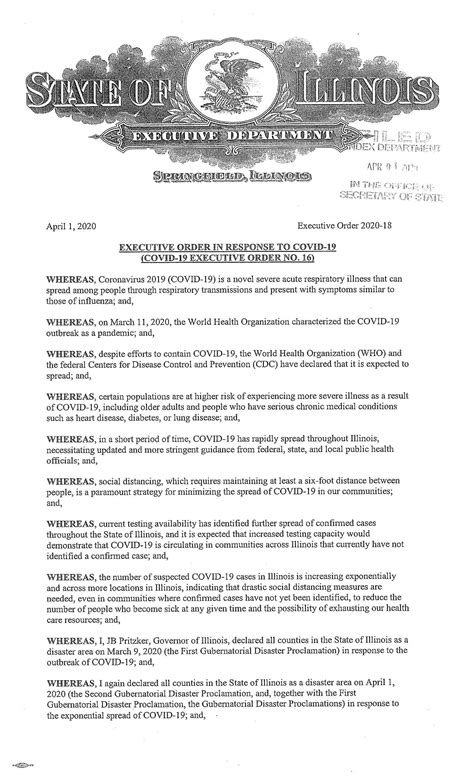 illinois shelter  place executive order extended