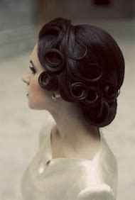 Vintage Pin Curl Updo