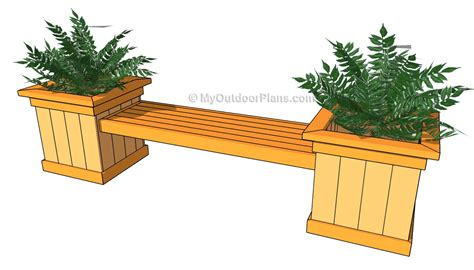wooden planter box bench plans  woodworking