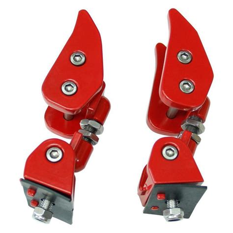 pair red aluminum hood lock lip catches hood latch catch