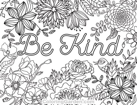 kind adult coloring page